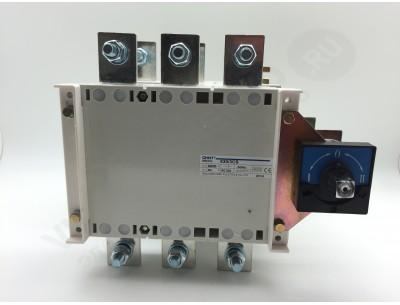 Перекидной рубильник NH40-1000/3CSW, 3P, 1000А, 3 положения I-0-II , выносная рукоятка управления (CHINT)