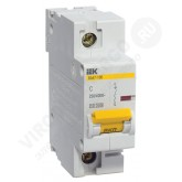 Автоматический выключатель ВА 47-100 1х16А 10кА C (IEK), , 455.00 р., М01339, ИЭК, Выключатели и рубильники