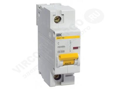 Автоматический выключатель ВА 47-100 1х50А 10кА C (IEK)
