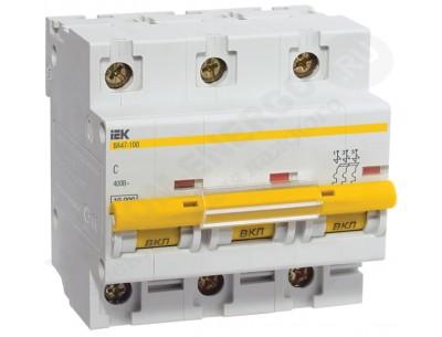 Автоматический выключатель ВА 47-100 3х80А (IEK)