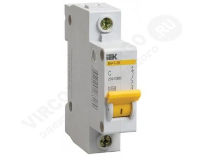 Автоматический выключатель ВА 47-29 1х63А (IEK)