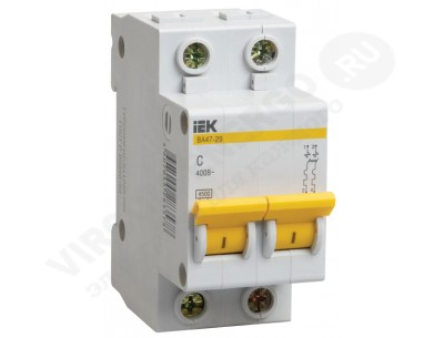Автоматический выключатель ВА 47-29 2х10А (IEK)