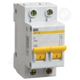 Автоматический выключатель ВА 47-29 2х16А (IEK), , 177.00 р., М01400, ИЭК, Модульные автоматы