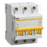 Автоматический выключатель ВА 47-29 3х3А (IEK), , 329.00 р., М01409, ИЭК, Модульные автоматы