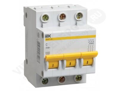 Автоматический выключатель ВА 47-29 3х6А (IEK)