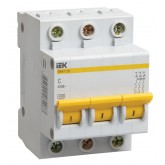 Автоматический выключатель ВА 47-29 3х25А (IEK), , 260.00 р., М01417, ИЭК, Выключатели и рубильники