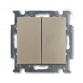 ABB BJB Basic 55 Шамп Выключатель 2-х клавишный (1012-0-2167), , 732.11 р., , ABB, Розетки и выключатели