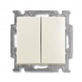 ABB BJB Basic 55 Шале (бел) Выключатель 2-х клавишный (1012-0-2187)