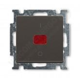 ABB BJB Basic 55 Шато (чёрн) Выключатель 1-клавишный 2-полюсный, 20A (1020-0-0092)
