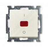 ABB BJB Basic 55 Шале (бел) Выключатель 1-клавишный 2-полюсный, 20A (1020-0-0093)
