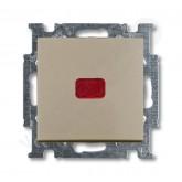 ABB BJB Basic 55 Шамп Выключатель кнопочный 1-клавишный, с линзой, без лампы, НО контакт (1413-0-109, , 858.82 р., , ABB, Розетки и выключатели