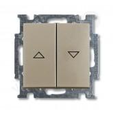 ABB BJB Basic 55 Шамп Выключатель жалюзийный кнопочный (1413-0-1094)