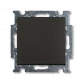 ABB BJB Basic 55 Шато (чёрн) Выключатель кнопочный 1-клавишный, НО контакт (1413-0-1095), , 428.41 р., , ABB, Розетки и выключатели