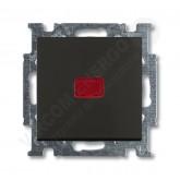 ABB BJB Basic 55 Шато (чёрн) Выключатель кнопочный 1-клавишный, с линзой, без лампы, НО контакт (141, , 627.52 р., , ABB, Розетки и выключатели