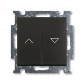 ABB BJB Basic 55 Шато (чёрн) Выключатель жалюзийный кнопочный (1413-0-1098)