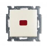 ABB BJB Basic 55 Шале (бел) Выключатель кнопочный 1-клавишный, с линзой, без лампы, НО контакт (1413