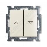 ABB BJB Basic 55 Шале (бел) Выключатель жалюзийный кнопочный (1413-0-1102), , 1 426.02 р., , ABB, Розетки и выключатели