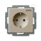 ABB BJB Basic 55 Шамп Розетка с/з с маркировкой DATA (2011-0-6141), , 703.96 р., , ABB, Розетки и выключатели