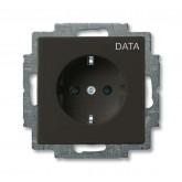 ABB BJB Basic 55 Шато (чёрн) Розетка с/з с маркировкой DATA (2011-0-6143)