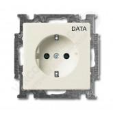 ABB BJB Basic 55 Шале (бел) Розетка с/з с маркировкой DATA (2011-0-6145)