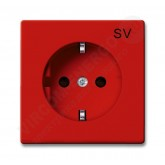 ABB BJB Basic 55 Красный Розетка SCHUKO 16А 250В, с маркировкой SV (2011-0-6151), , 360.02 р., , ABB, Розетки и выключатели