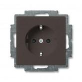 ABB BJB Basic 55 Шато (чёрн) Розетка с/з с защитными шторками (2013-0-5338)