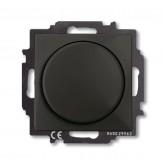 ABB BJB Basic 55 Шато (чёрн) Светорегулятор поворотно-нажимной 60-400 Вт для л/н (6515-0-0846), , 3 364.94 р., , ABB, Розетки и выключатели