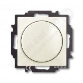 ABB BJB Basic 55 Шале (бел) Светорегулятор поворотно-нажимной 60-400 Вт для л/н (6515-0-0847)