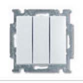 ABB BJB Basic 55 Бел Выключатель 3-клавишный, 16А (1012-0-2155)