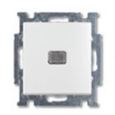 ABB BJB Basic 55 Бел Выключатель кнопочный 1-клавишный, с линзой, без лампы, НО контакт (1413-0-1081, , 480.70 р., , ABB, Розетки и выключатели