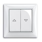 ABB BJB Basic 55 Беж Выключатель жалюзийный кнопочный (1413-0-1085)
