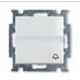 ABB BJB Basic 55 Бел Выключатель кнопочный с полем для надписи (1413-0-1086), , 746.20 р., , ABB, Розетки и выключатели