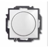 ABB BJB Basic 55 Бел Светорегулятор поворотно-нажимной 60-400 Вт для л/н (6515-0-0842), , 2 230.55 р., , ABB, Розетки и выключатели