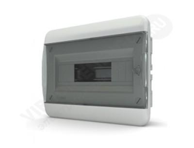 Щит распр. встраиваемый СVК40-12-1 (12 мод.IP40.черная дверь, шины PEи N, DIN-рейка)
