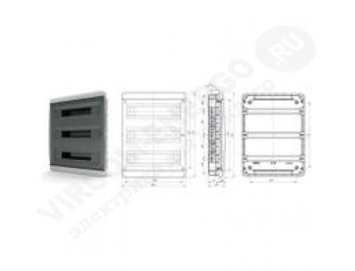 Щит распр. встраиваемый BVK40-54-1 (54мод.IP40.черная дверь, шины PEи N, DIN-рейка)