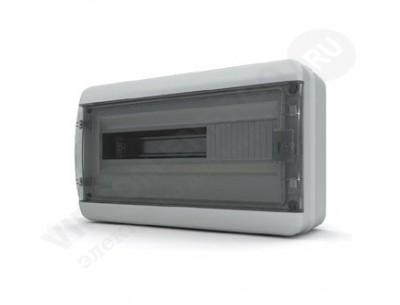 Щит распр. навесной BNK65-18-1 (18мод.IP65.черная дверь, шины PEи N, DIN-рейка)
