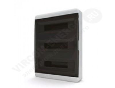 Щит распр. навесной BNK65-54-1 (54мод.IP65.черная дверь, шины PEи N, DIN-рейка)