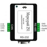 Адаптер Bluetooth-CAN/RS485/RS232 Меркурий 251,  251, 9 285.00 р., Меркурий 251, Меркурий, Дополнительное оборудование
