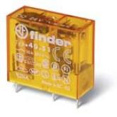Finder Миниатюрные PCB-реле, выводы с шагом 5мм, Контакты AgNi, 1CO 10A, катушка DC (405190240000)
