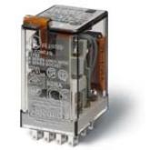 Finder Миниатюрные реле, Втычные, Контакты AgNi, 4CO 7A блокируемая кнопка Тест+Светодиод+диод (5534