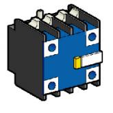 SE Telemecanique Дополнительный контактный блок с 2 пыле-влагозащищенными контактами 2НО (LA1DX20)