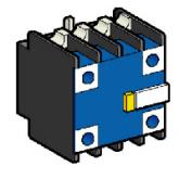 SE Telemecanique Конт. блок с 2 пыле-влагозащ. +2НО конт. (LA1DZ40)