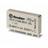 Finder Ультратонкие реле для печатного монтажа, контакты AgNi, 1CO 6A (345170240010)