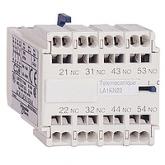 SE Telemecanique Контакт дополнительный фронтальный 2НО+2НЗ для конт.серии К, пружинный зажим (LA1KN