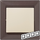 Legrand Valena Модерн Рамка 4-ая гориз (770004), 770004, 562.30 р., 770004, Legrand, Розетки и выключатели