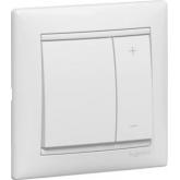 Legrand Valena Бел Светорегулятор нажимной 40-600W для л/н и обмоточных т-ров (770074)
