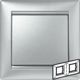 Legrand Valena Алюминий Рамка 2-ая гориз (770152), 770152, 346.11 р., 770152, Legrand, Розетки и выключатели