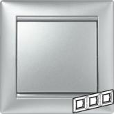 Legrand Valena Алюминий Рамка 3-ая гориз (770153), 770153, 540.51 р., 770153, Legrand, Розетки и выключатели
