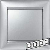 Legrand Valena Алюминий Рамка 4-ая гориз (770154), 770154, 887.49 р., 770154, Legrand, Розетки и выключатели