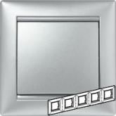 Legrand Valena Алюминий Рамка 5-ая гориз (770155), 770155, 1 455.89 р., 770155, Legrand, Розетки и выключатели